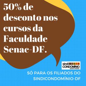50% de desconto nos cursos da Faculdade Senac-DF