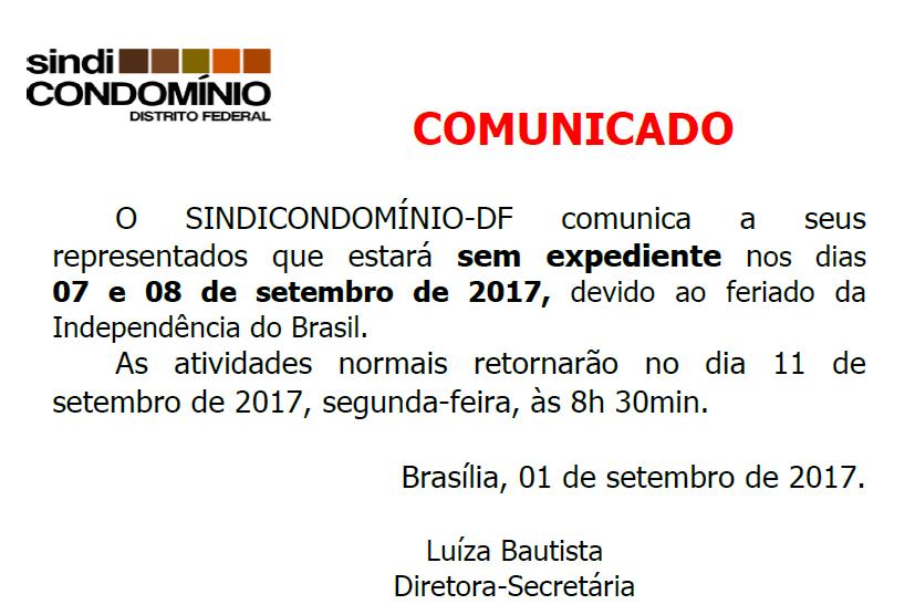 COMUNICADO RECESSO CARNAVAL