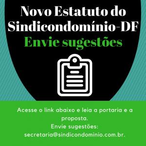 Novo Estatuto do Sindicondomínio-DF. Envie sugestões