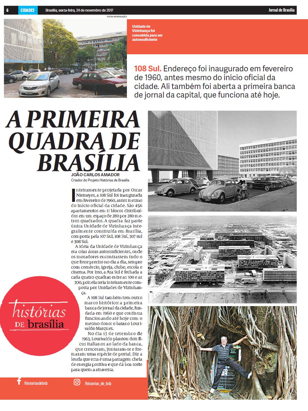 a primeira quadra de brasília