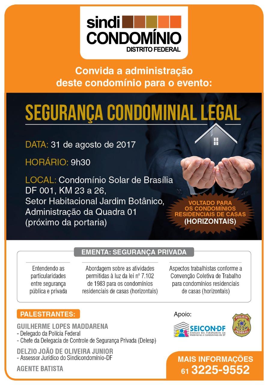 evento segurança condominial legal